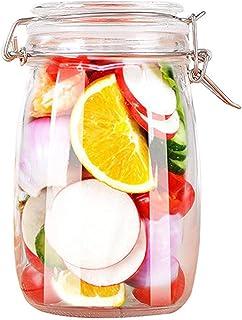 Qagazine Bocaux en verre avec couvercles hermétiques Mason Bocaux en verre avec joint d'étanchéité en caoutchouc anti-fuit...