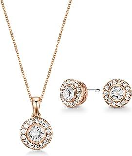 Mestige Women Glass Rose Gold Emmie Set with Swarovski Crystals