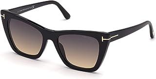 Tom Ford POPPY-02 FT 0846 Shiny Black/Dark Grey Shaded 53/18/140 unisex Sunglasses