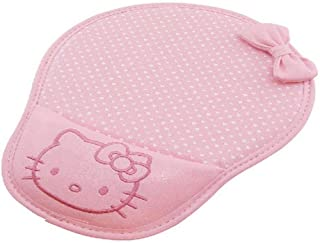 Famixyal Creative Cartoon Wrist Protected Computer Hello Kitty Polka Dot Bow PU Leather Wrist Rest Mouse Pad Mat Perfect Gift (Pink)