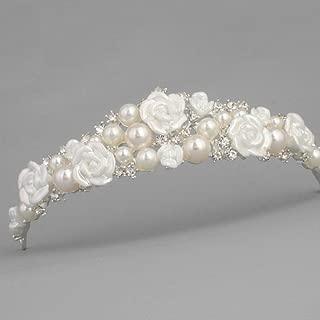 Stunning Tiaras with Rhinestones/Pearls for Wedding/Sweet Sixteen/Flower Girl/Quinceanera/First Communion Crown Headdress-Various Designs (Pearl Tiara)