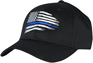 Thin Blue Line USA Flag Mid Profile Hat