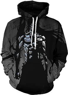 Men Cosplay Bleach 3D Print Pullover Hoodie Sweatshirt with Front Pocket