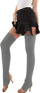 مدفئات الساق من Stirrup للنساء مستقيمة فوق الركبة جوارب الرقص الرياضة اليوغا الباليه اكسسوارات