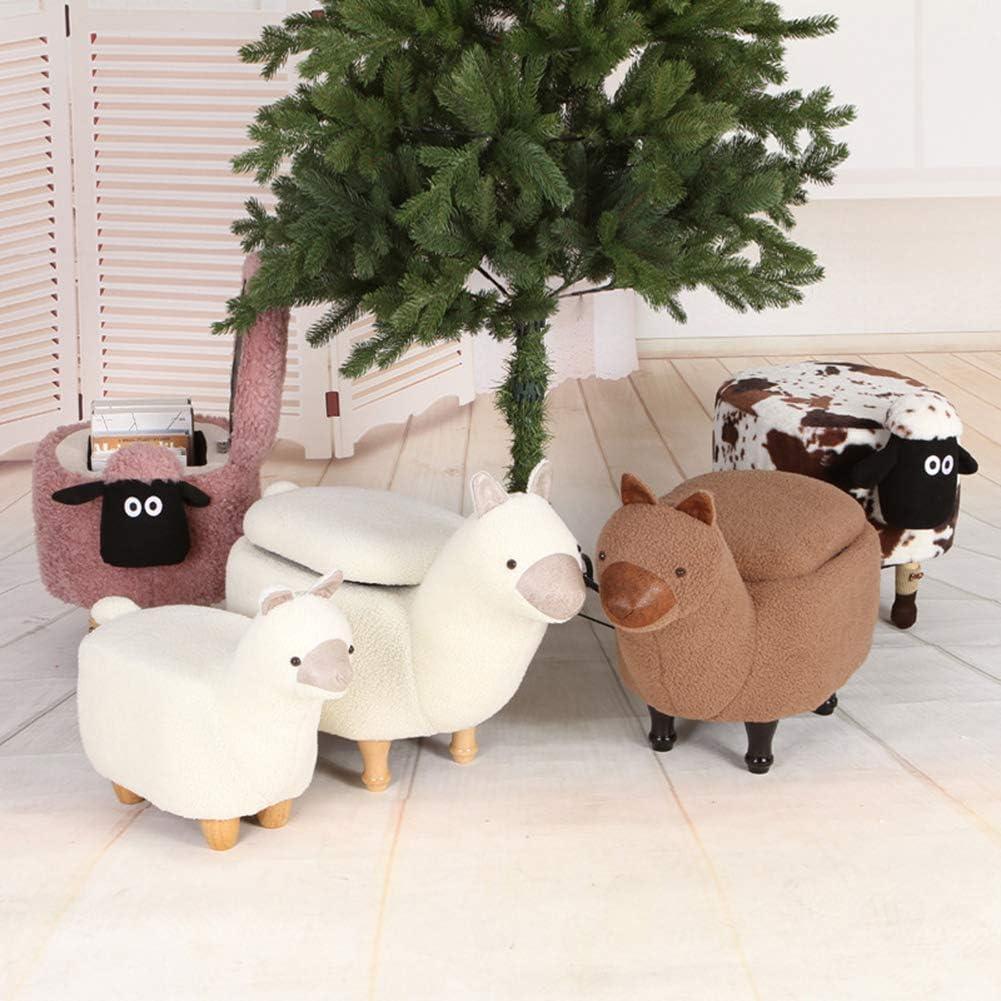 MWPO Boîtes de Rangement Pouf Adultes Tabouret de Pied Repos Mouton tabourets créatifs poufs tabourets Multifonctions Chaise pour Salon Chambre Black-sheep