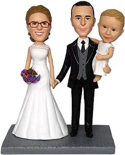 esculturas personalizadas copia de la foto pareja de novios figuritas bobblehead busto personalizado figuras de topper de ...