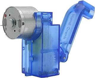 FUNUANBANG 5V Mini Hand Engine Motor Haft Mechanical,High Power, Portable Charger Handle Hand DC Crank power generator Dynamo Hand generator For DIY