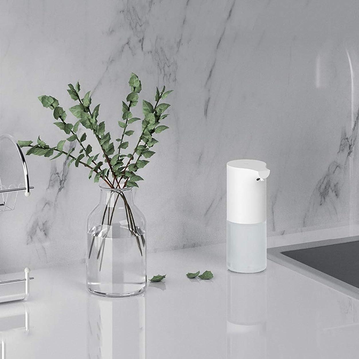 暴力的なコンパクト爆発物赤外線センサー泡手消毒剤320ミリリットル環境保護素材石鹸ボトルキッチンバスルームローション(色:白、サイズ:19 * 9.8 * 7.3 cm) (Color : White, Size : 19*9.8*7.3cm)