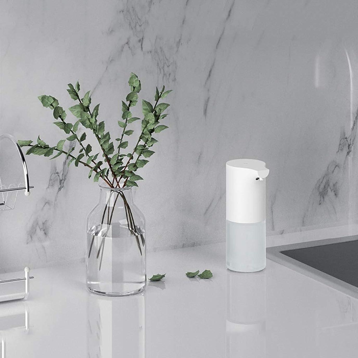 書士カイウスバンド赤外線センサー泡手消毒剤320ミリリットル環境保護素材石鹸ボトルキッチンバスルームローション(色:白、サイズ:19 * 9.8 * 7.3 cm) (Color : White, Size : 19*9.8*7.3cm)