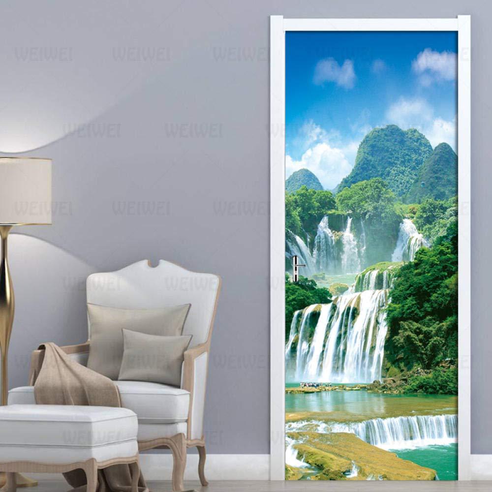 3D Door Murals Peel and New product Stick Wall DIY Home Wallpaper Ar Sticker Ranking TOP4
