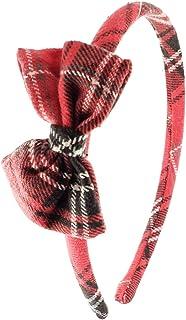 Cerchietto per capelli bambina fatto a mano in tessuto Scozzese Tartan Inglese