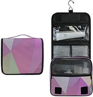 Makeup Bag Geometric Triangle Toiletry Bag Travel Cosmetic Organizer Waterproof Wash Bag for Men Women