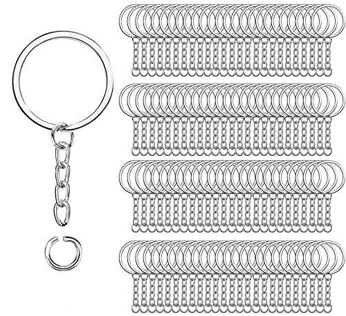 100 piezas de anillos de llavero de metal dividido,Richaa 1...