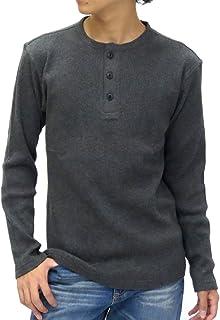 [エドウィン] Tシャツ メンズ 長袖 ロンT 無地 ヘンリーネック ワッフル