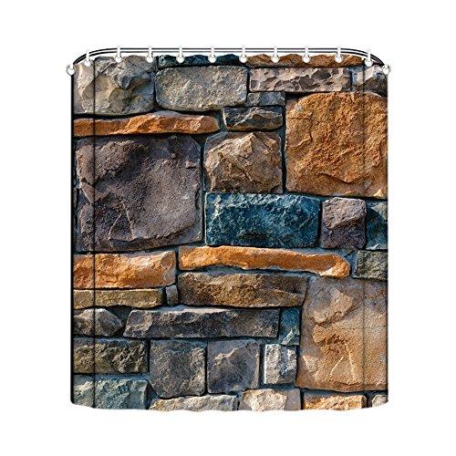 Gd Rideau de mur de Designs Rideau de douche Anti Moisissure Salle De Bain Salle de Bain Rideaux rideau de douche liner avec crochets Polyester décoratif étanche lavable en machine, B, 180 x 180 cm