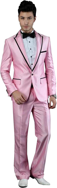 P&G Men's Suit PeakLapel Two Pieces One Button Prom Dress Set