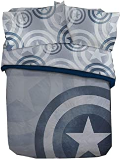 Captain America Marvel Adult Queen Bedding Sheet Sets 5-Piece - Comforter, Sheets and Pillowcases
