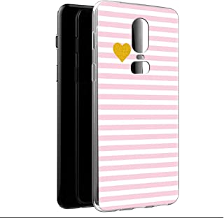OnePlus 6 Case, Eouine Phone Case Transparent Clear with Pattern [Ultra Slim] Shockproof Soft Gel TPU Silicone Back Cover ...