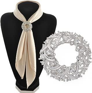 Bluelans Fashion Rhinestone Scarf Ring Silk Scarf Buckle Clip Jewelry Gifts for Women