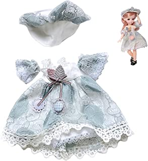 Licogel Doll Dress Set Lifelike Cute Fashion Portable Doll Clothes Kit Doll Dressing Set for 12in Doll Soft
