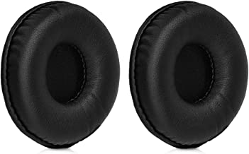 kwmobile 2X Earpads for AKG N60NC Wireless - PU Leather Replacement Ear Pads for Over-Ear Headphones - Black