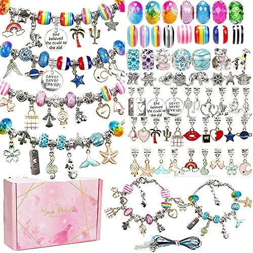 HCHYY Bonito kit de fabricación de pulseras para niñas – Pulsera para niños con abalorios y accesorios de decoración, el juego de regalo es el mejor regalo para adolescentes, niña, niño, etc.