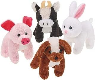 U.S. Toy SB543 Assorted Plush Stuffed Farm Animals (Pack of 12)