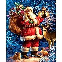 5D DIYダイヤモンドラインストーン刺繍クロスステッチのクリスマスの家の装飾のための絵画ドリルキットクリスマスのフル絵画 A-Square diamond