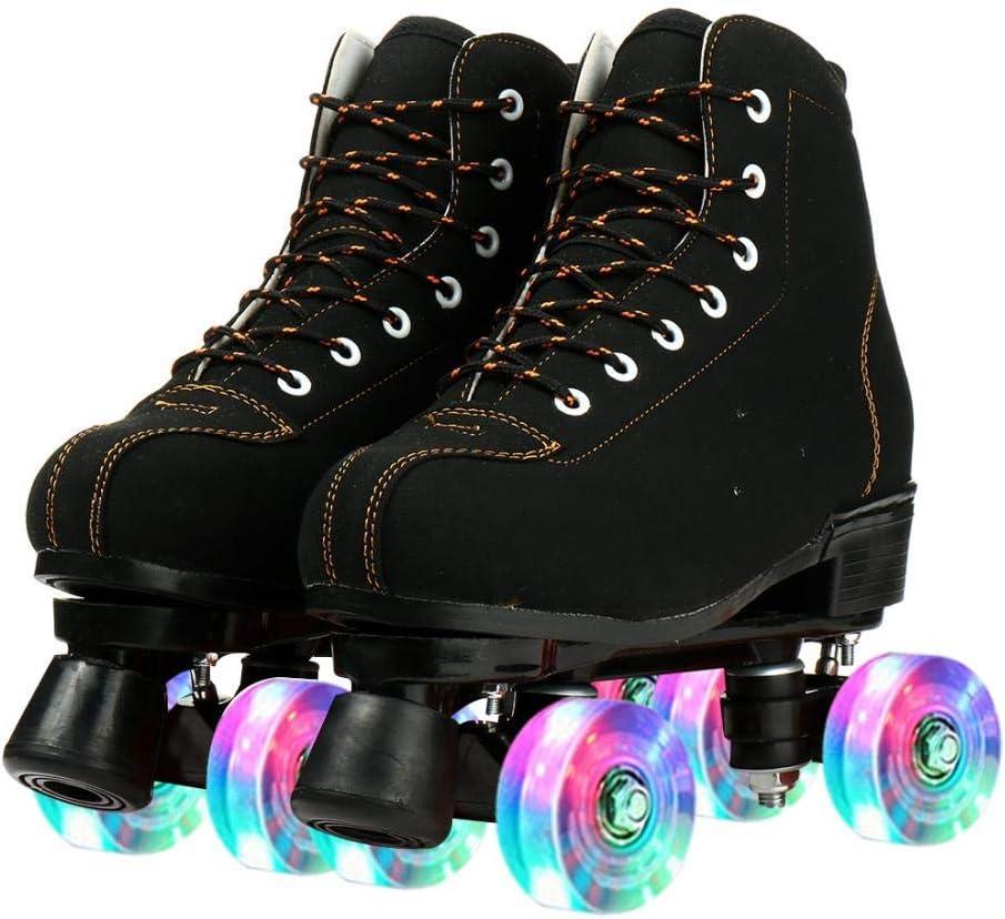 jessie Womens Black Roller Skates ☆最安値に挑戦 Light-Up 4-Wheel Outd High-top ストアー