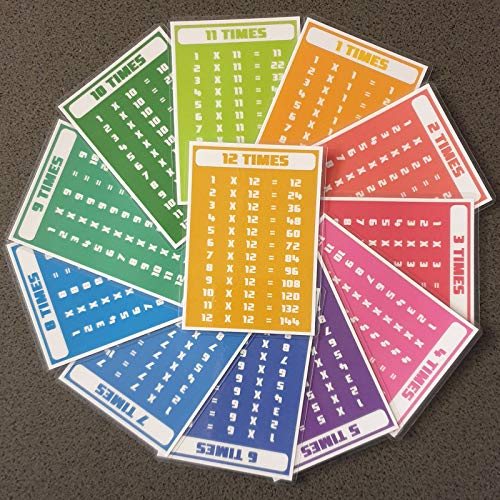 Print'n'Lam A7 Laminated Times Tables Flash Cards Maths Multiplication Educational Resource