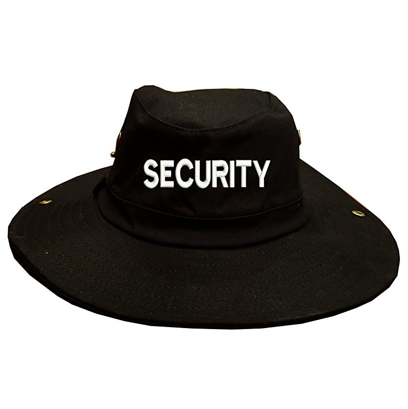 SECURITY Text Military100% Cotton Military Boonie Bush Hiking Outdoor Hat Black