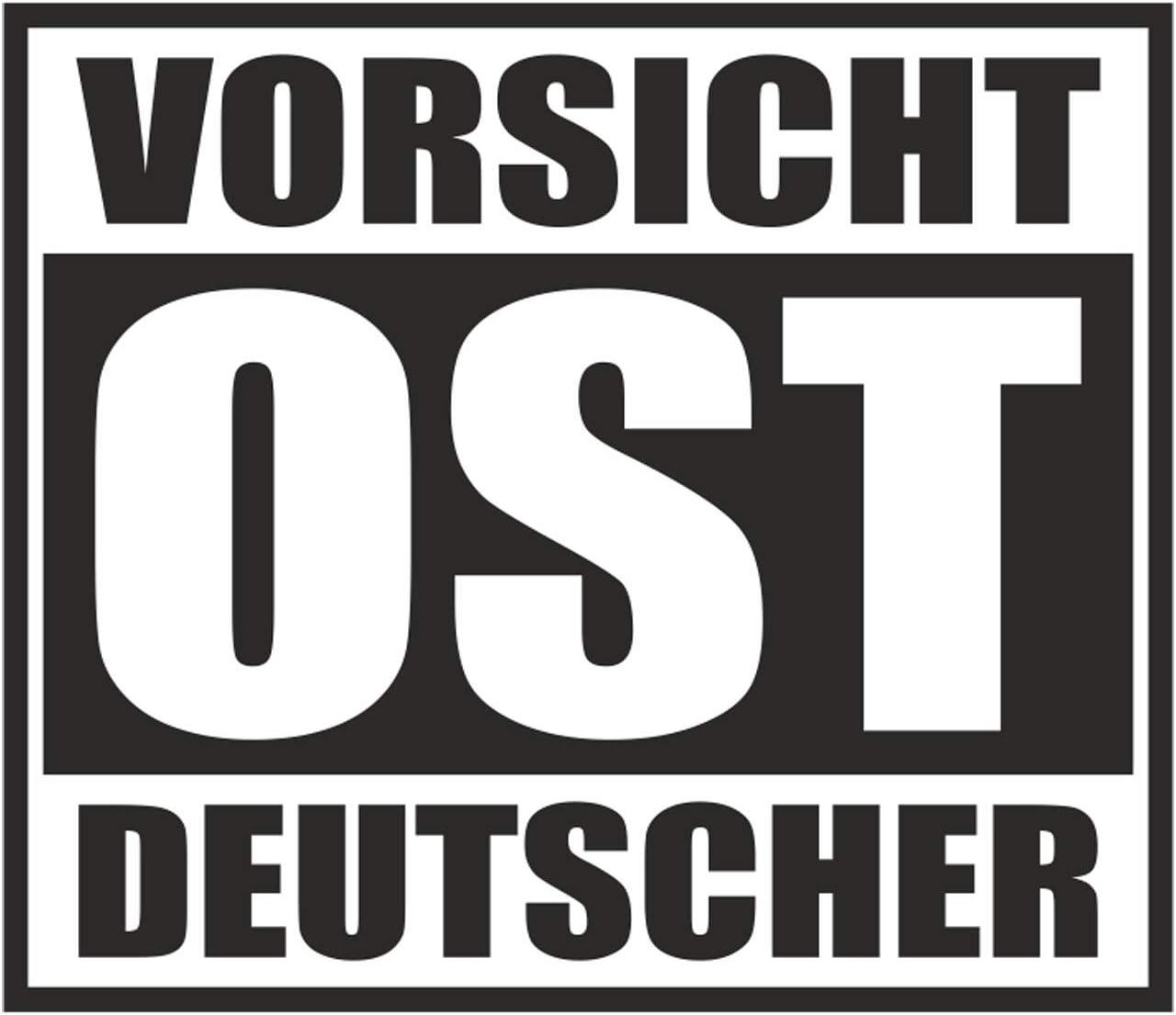 Wetterfester Aufkleber Vorsicht Ost Deutscher 11cm Ostdeutschland Ossi Ddr Osten Auto