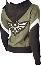 Ya-cos Zelda Costume Link Hooded Sweater Hyrule Warriors Zipper Coat Jacket Green for Girl Boy
