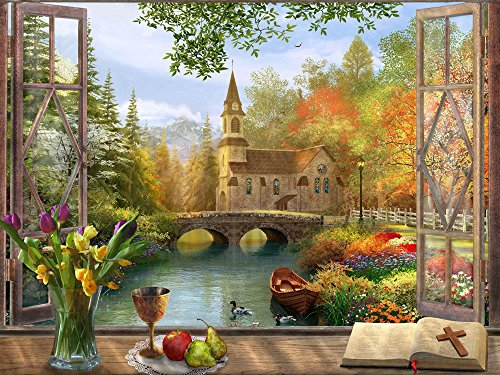 Autumn Church Jigsaw Puzzle 550 Piece