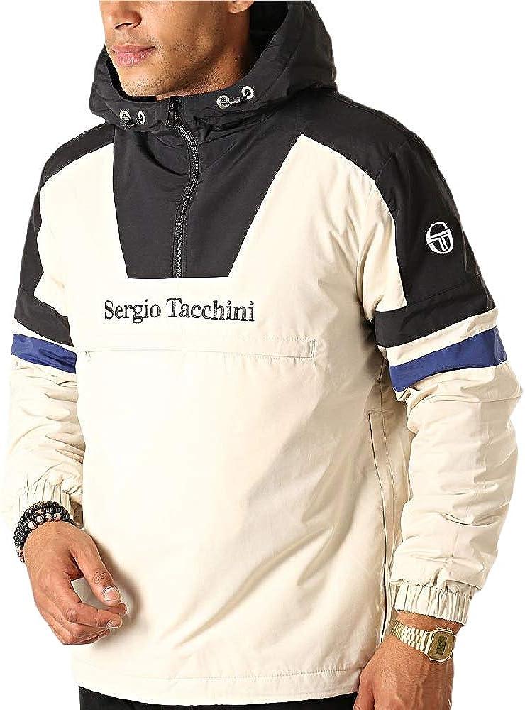 Sergio Tacchini Homme zone Zip Track Top Veste Noir