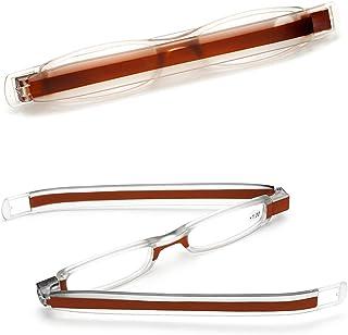 VEVESMUNDO - Gafas de Lectura Portatiles Estrechas Rectangular Modernas Lente Transparent Anteojos Leer Graduadas Presbicia Para Hombre Mujer