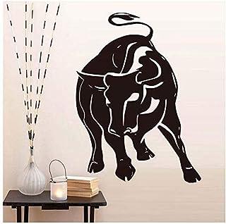 Raging Bull Muursticker Voor Woonkamer Wanddecoratie Hol Dier Vinyl Zelfklevende Behang Decals Home Decor79cm X 58cm
