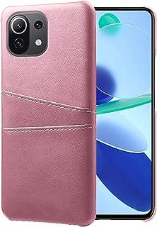EasyLifeGo for Xiaomi Mi 11 Lite 4G / Xiaomi Mi 11 Lite 5G case with 2 ID Card Holder Premium PU Leather Cover Shockproof ...