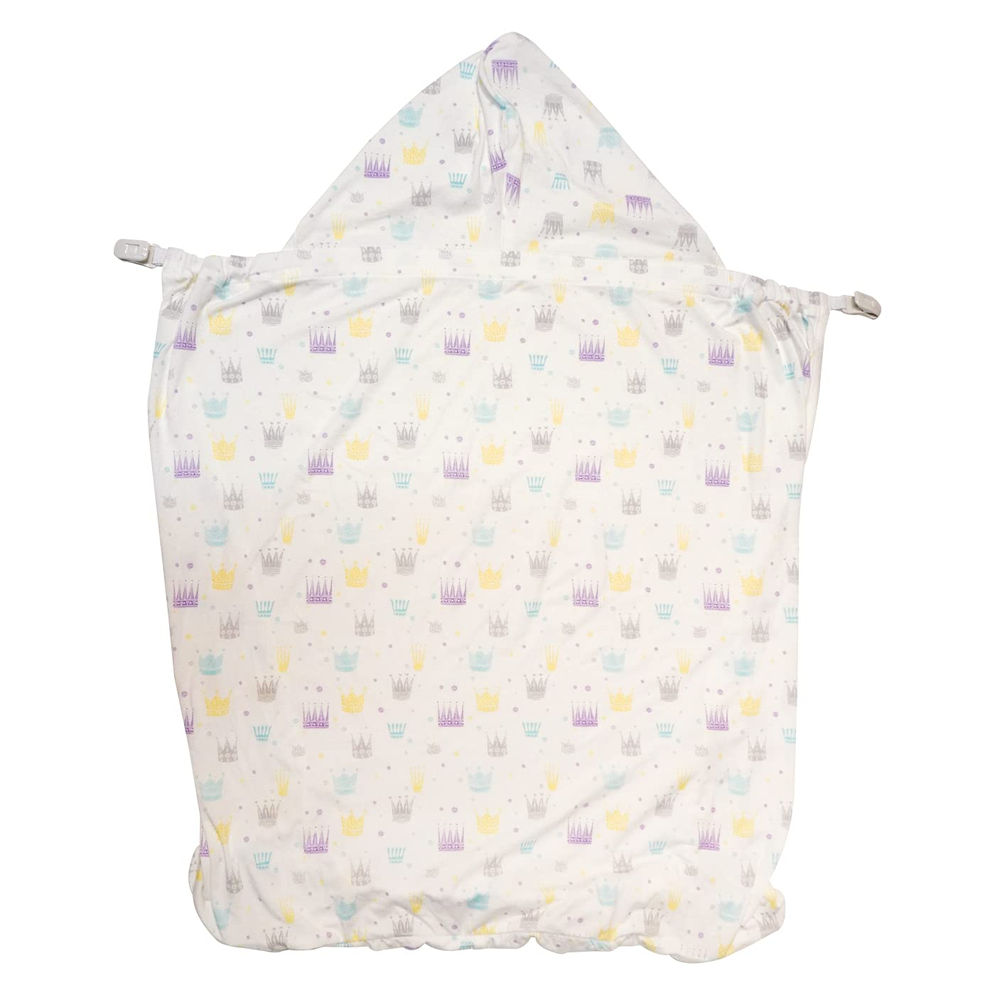 【angelette】2-Way Cool Touch Cover/Sun Shade for Strollers/Baby Carrier,Car Seat and Stroller/Blocks 90% of UV / Bamboo_Fiber (Crown)