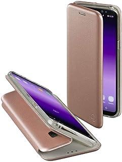 Hama Schutzhülle Curvee (für Samsung Galaxy S8, magnetisches TPU Terrmoplastisches Polyurethan) / PU Leder (PU), drahtloses Aufladen (kabelloses Laden) Roségold