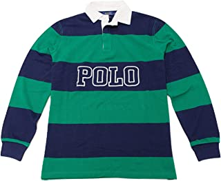 Polo Mens Classic Fit Cotton Mesh Long Sleeve Rugby Shirt