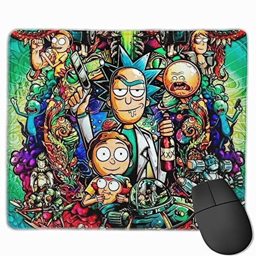 epilimnion Rick N Morty Computer Gaming Mouse Pad Laptop Pad Non-Slip Rubber Stitched Edges 11.8 X 9.8 Inch