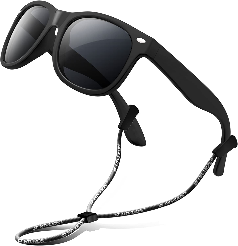RIVBOS Kids Sunglasses Polarized UV Protection Flexible Rubber Glasses Shades...