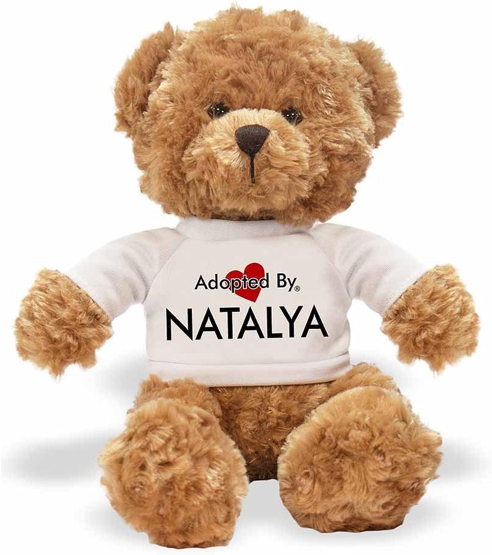AdoptedBy Tb1Natalya Teddy orso Che Indossa Una t-Shirt Personalizzabile con Nome