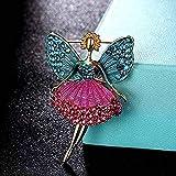 Broche JXtong2 con diseño de mariposa, colorido, broche y colgante, joyería femenina, 4 x 6 cm