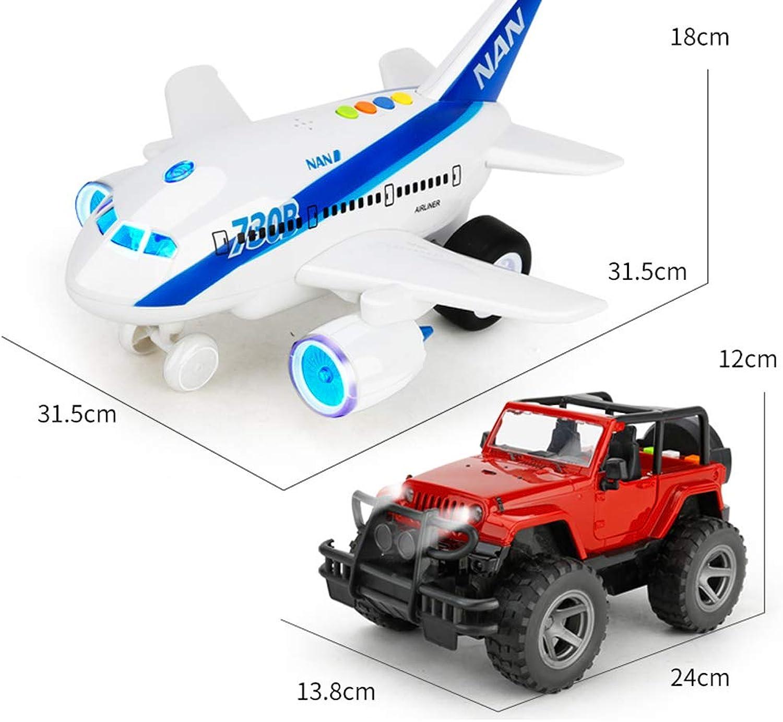 Ragazzo Giocattolo Auto inerzia modellolo Jeep Anti-Caduta Fuoristrada Auto Suono e modellolo Leggero Ragazzo