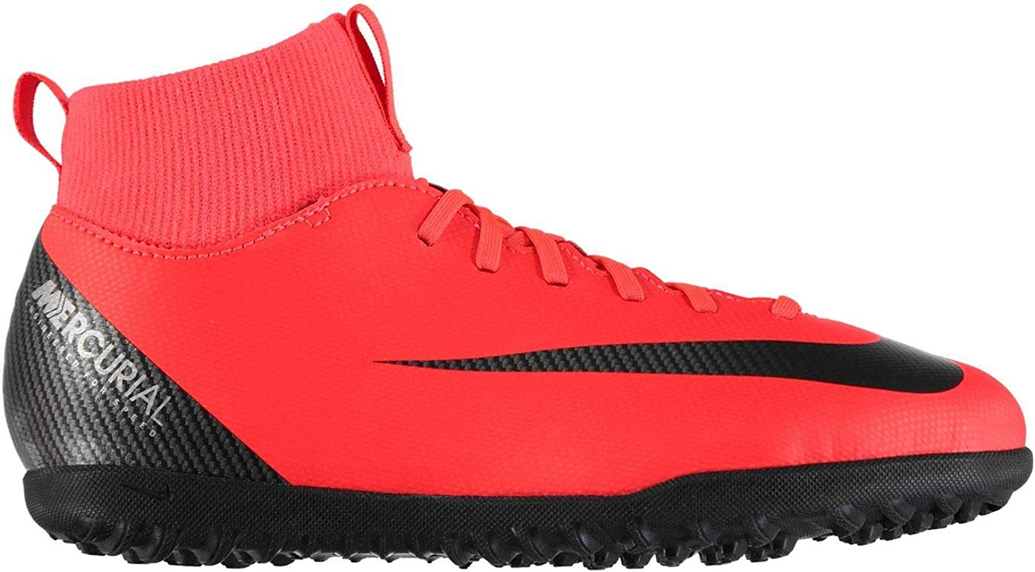 Official Nike Mercurial Superfly Club CR7 Astro Football Trainers Juniors Red Soccer shoes
