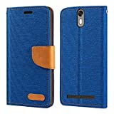 Wileyfox Storm 4G Case, Oxford Leather Wallet Case with