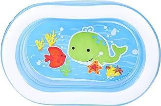 LHONG Piscina Hinchable Oval 163 * 107 * 46cm, 230 litros con Bomba de Aire eléctrica para Bebe Adultos Niños Al Aire Libre jardín Patio Trasero