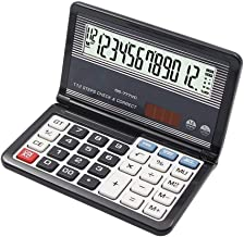 $30 » Clamshell Calculator with 12-Digit LCD Display Solar Dual Power Supply Calculators for School Business Office (Color : Black)